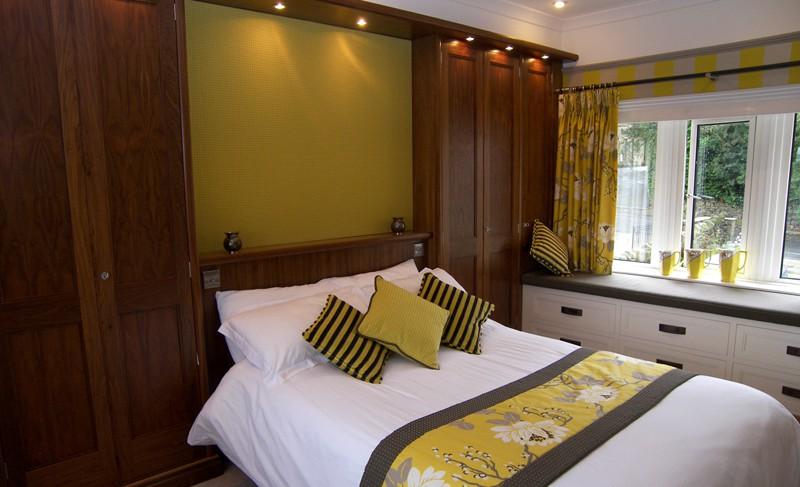 Matthew James Furniture Walnut Fitted Bedroom Furniture