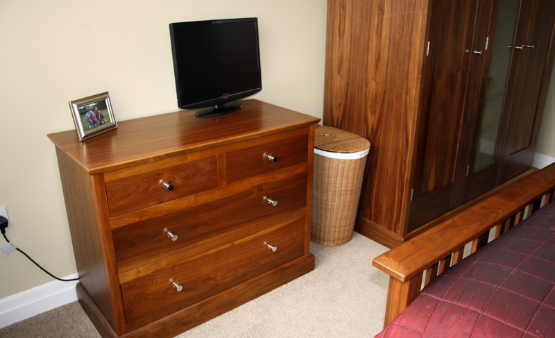 Matthew james furniture freestanding walnut bedroom for American walnut bedroom furniture
